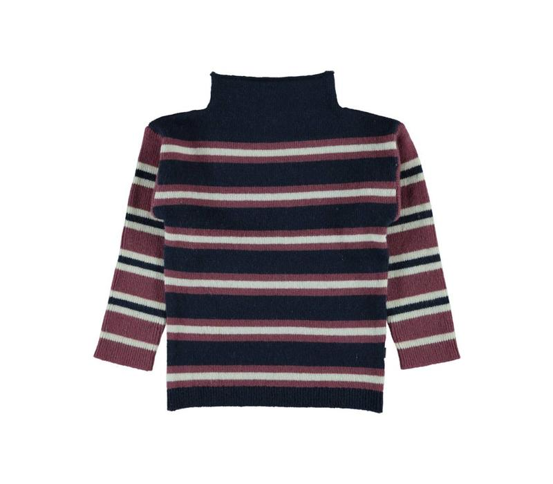 Kidscase Jules striped sweater dark blue