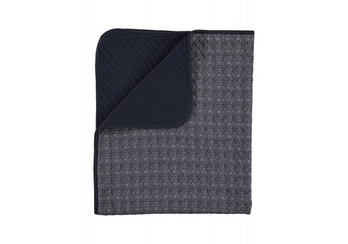 Home by Door Lux printed blanket darkblue