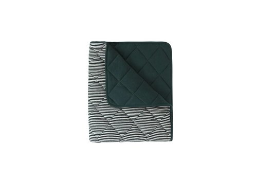 Home by Door Paddy  organic blanket dark green