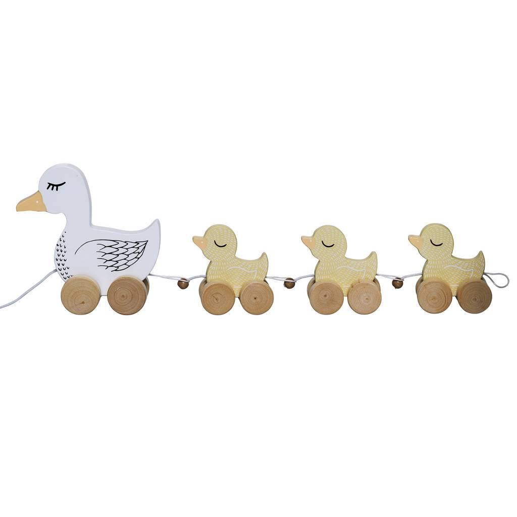Bloomingville Bloomingville Pull Along Toy, Multi-color, MDF