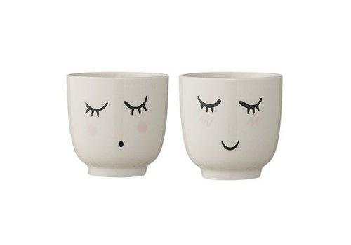 Bloomingville Bloomingville Smilla Cup, White, Stoneware