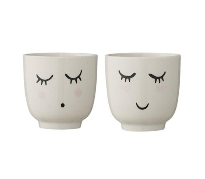 Bloomingville Smilla Cup, White, Stoneware