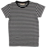 Nordic Label Basic SS stripe black/Grey