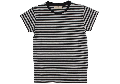Nordic Label Nordic Label Basic SS stripe black/Grey