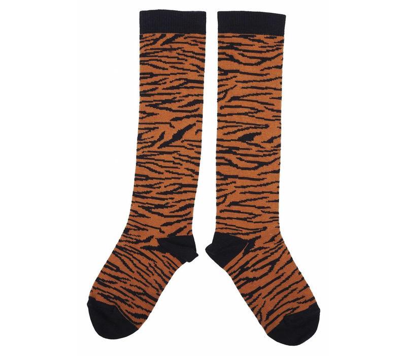 Emile et Ida sokken Zebra blauw