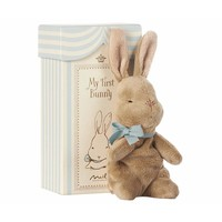 Maileg My First Bunny in Box, Blue