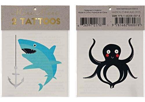 Meri Meri Meri Meri Sea creatures tattoos