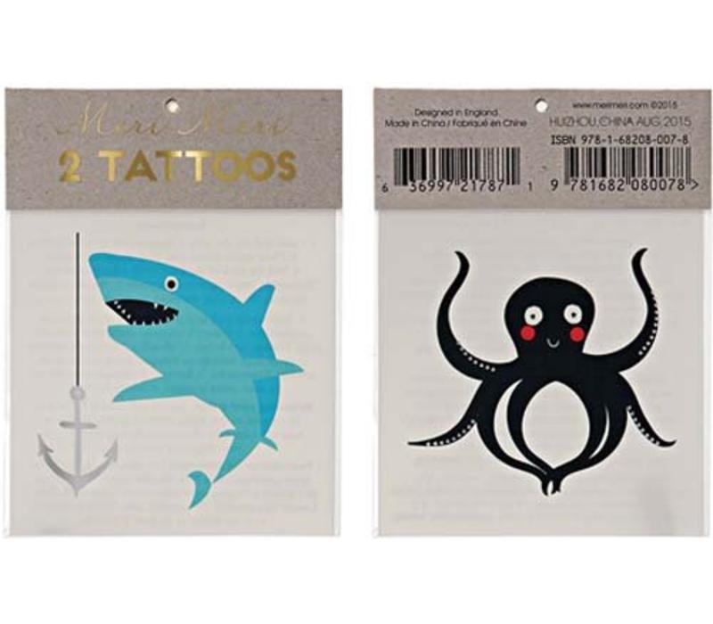 Meri Meri Sea creatures tattoos