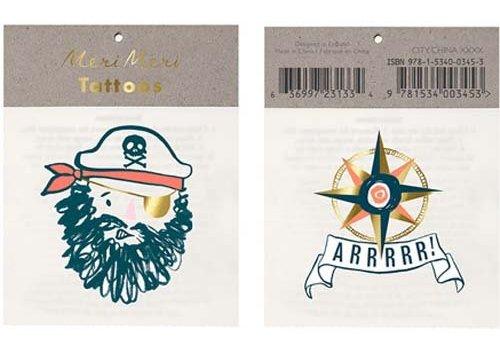 Meri Meri Meri Meri Bearded pirate tattoos