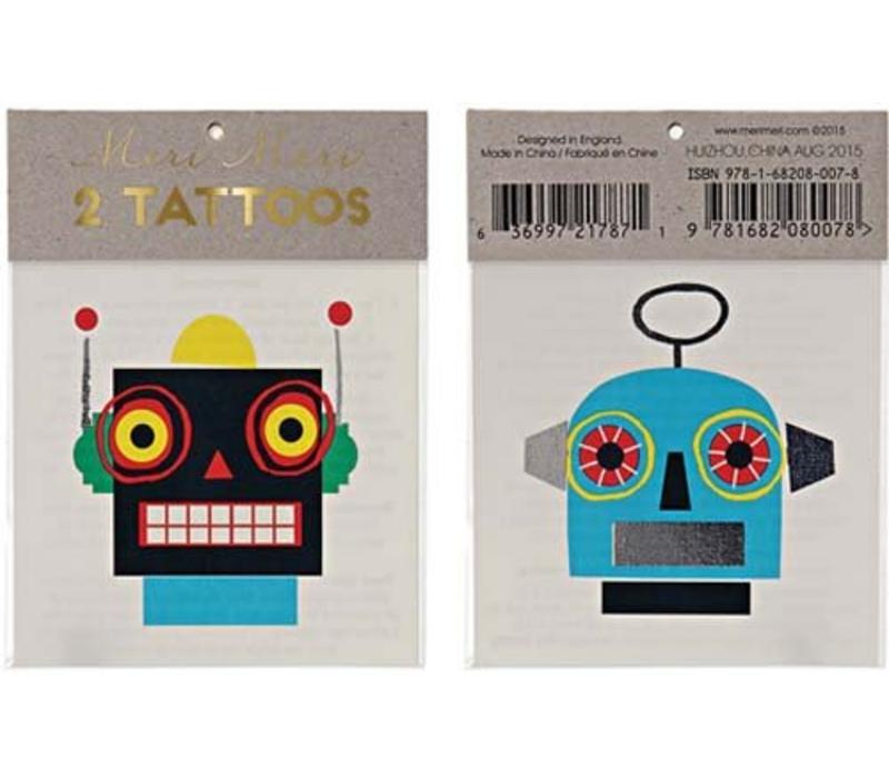 Meri Meri Robots tattoos