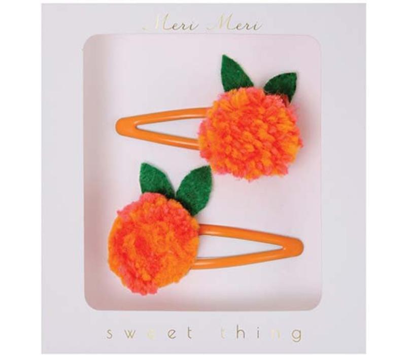 Meri Meri Tangerine hair clips