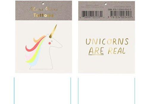 Meri Meri Meri Meri Unicorns are real tattoos