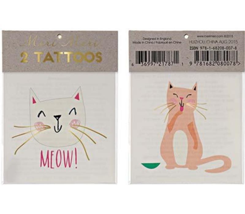 Meri Meri Cats tattoos
