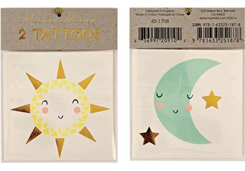 Meri Meri Meri Meri Sun & moon tattoos