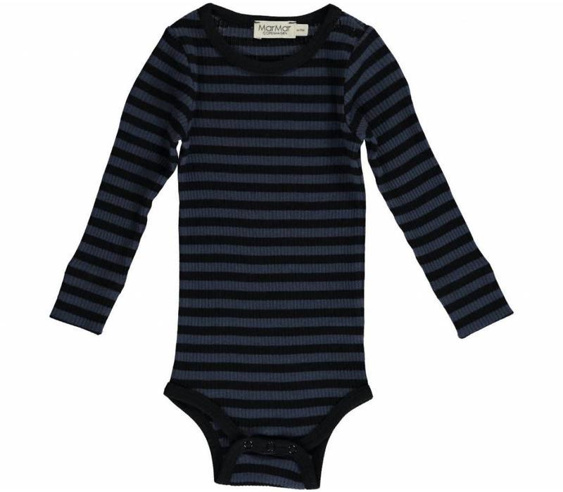 MarMar Copenhagen Plain Body LS Stripe Black/Blue