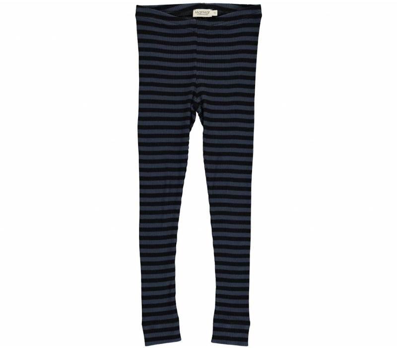MarMar Copenhagen Stripes Black-Blue Pants / Leg