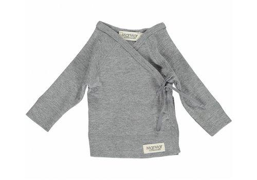 MarMar Copenhagen MarMar Copenhagen New Born Wrap LS Grey Tut