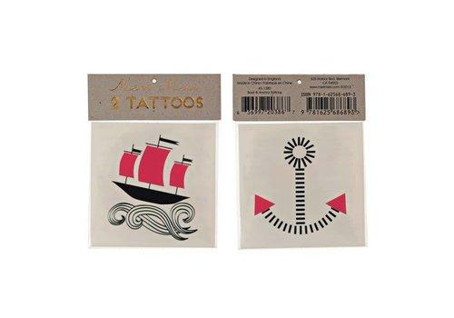 Meri Meri Meri Meri Boat & Anchor tattoos