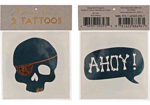 Meri Meri Meri Meri Skull & Ahoy tattoos