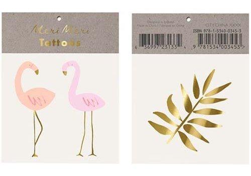 Meri Meri Meri Meri Flamingo tattoos