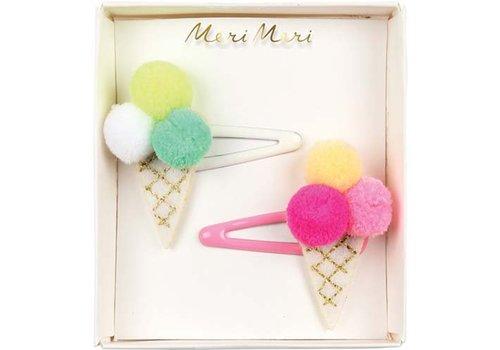 Meri Meri Meri Meri Pom Pom icecream hair clips