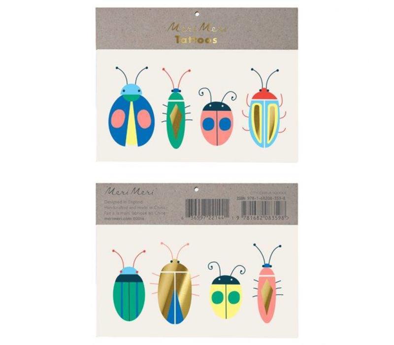 Meri Meri Bug tattoos