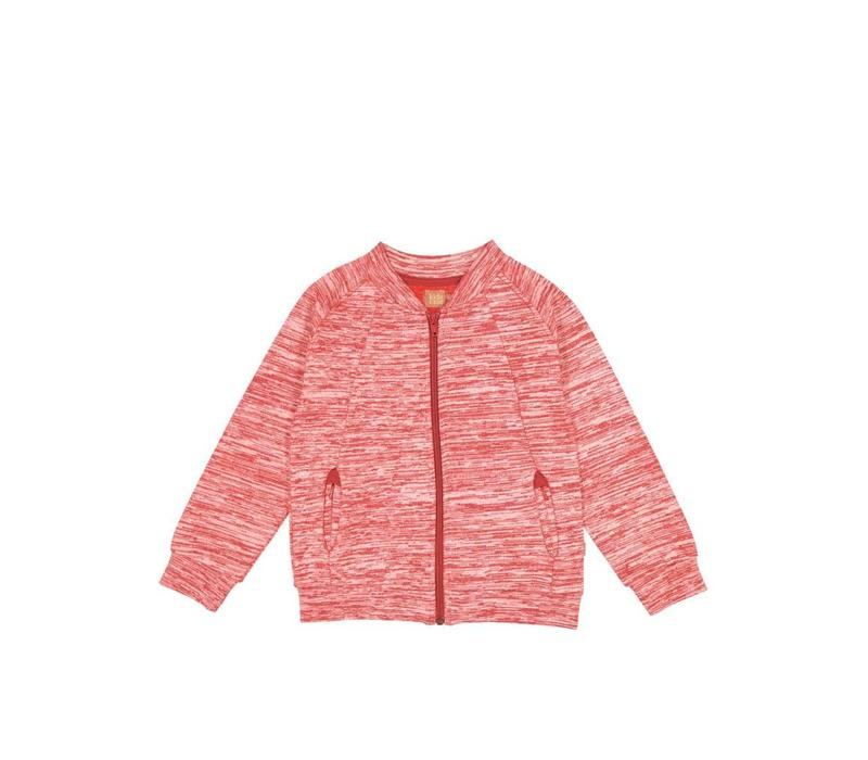 Kidscase sweatjacket Red