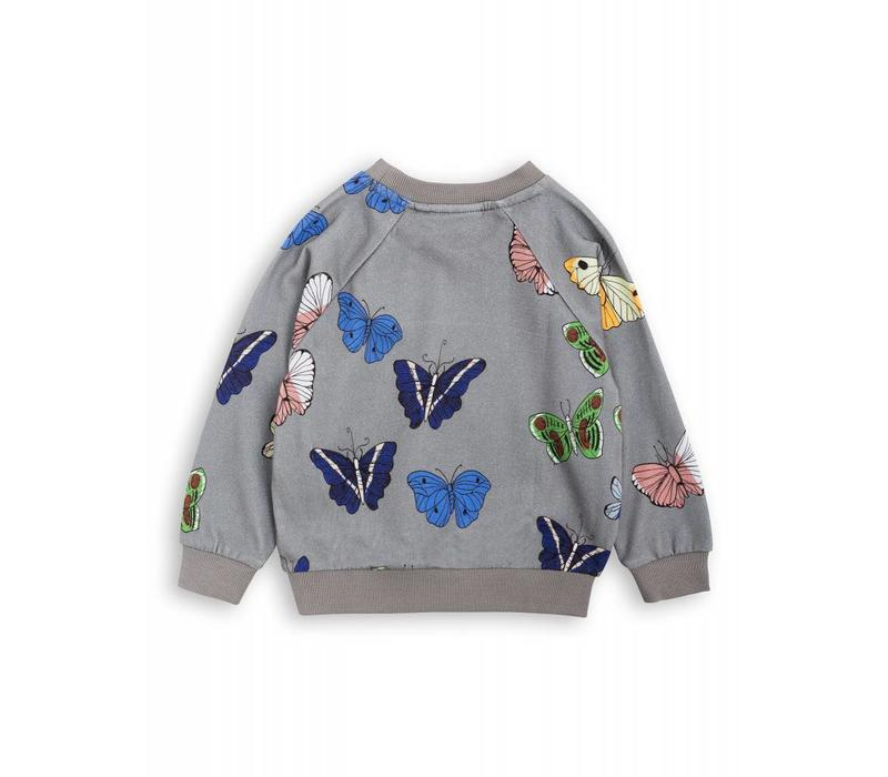 Mini Rodini Sweatshirt Butterflies grey