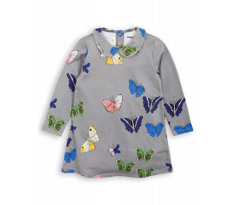 Mini Rodini Collardress Butterflies grey