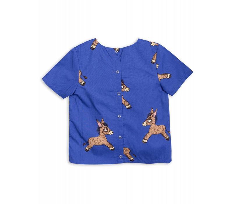 Mini Rodini Donkey woven ss blouse