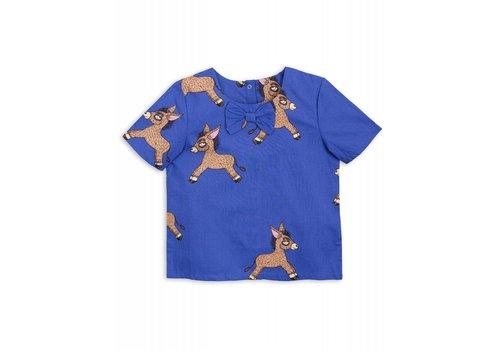 Mini Rodini Mini Rodini Donkey woven ss blouse