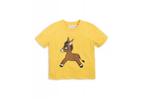 Mini Rodini Mini Rodini Donkey t-Shirt yellow
