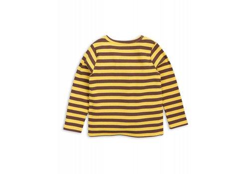 Mini Rodini Mini Rodini stripe rib longsleeve stripe yellow