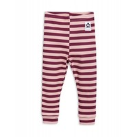 Mini Rodini stripe rib legging pink