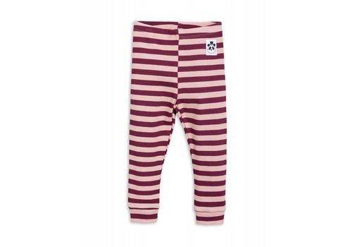 Mini Rodini Mini Rodini stripe rib legging pink
