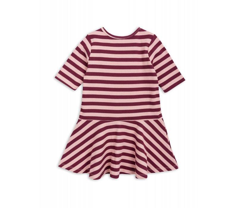 Mini Rodini stripe rib dance dress pink