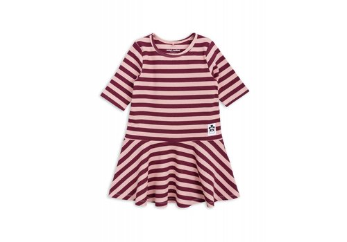 Mini Rodini Mini Rodini stripe rib dance dress pink