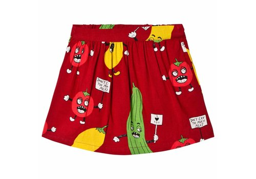 Mini Rodini Mini Rodini Veggie woven skirt