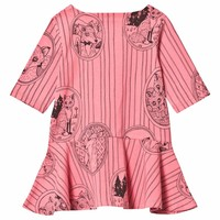 Mini Rodini dress Fox pink