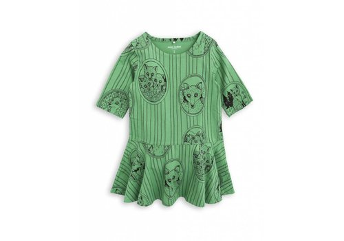 Mini Rodini Mini Rodini dress Fox green 1