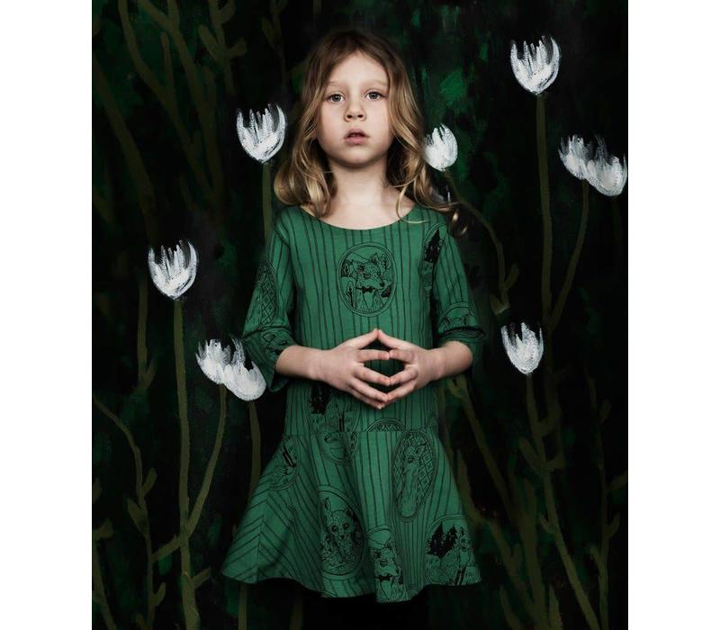 Mini Rodini dress Fox green 1