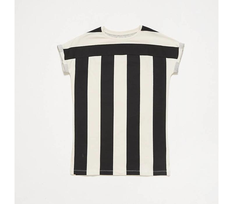 Repose AMS t-shirt dress thunder block stripe