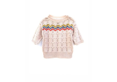 Long Live the Queen Longlivethequeen Knitted Short Sleeves Oatmeal