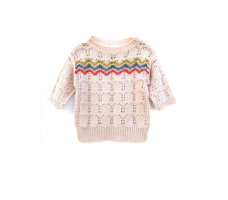 Longlivethequeen Knitted Short Sleeves Oatmeal