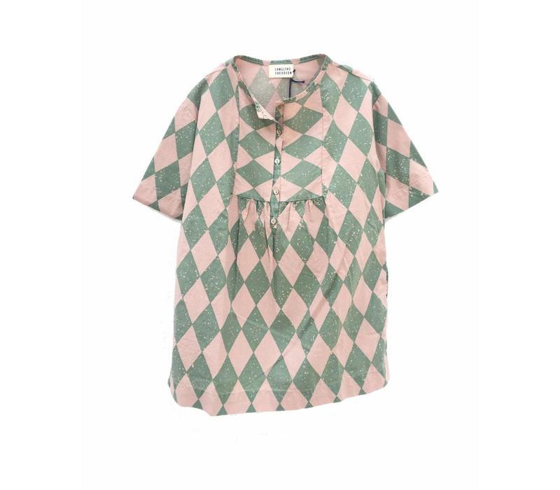 Longlivethequeen Dress Green Diagonals
