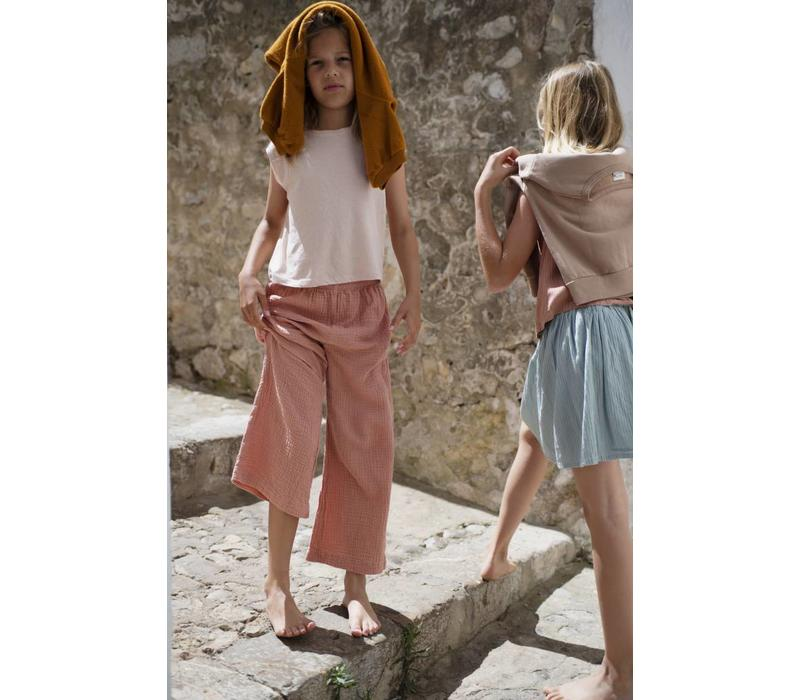 Longlivethequeen Wide Pants Natural Crinkle Cotton