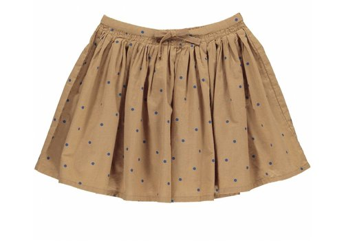 MarMar Copenhagen MarMar Copenhagen Sille Light Cotton Print Skirt Caramel Dot