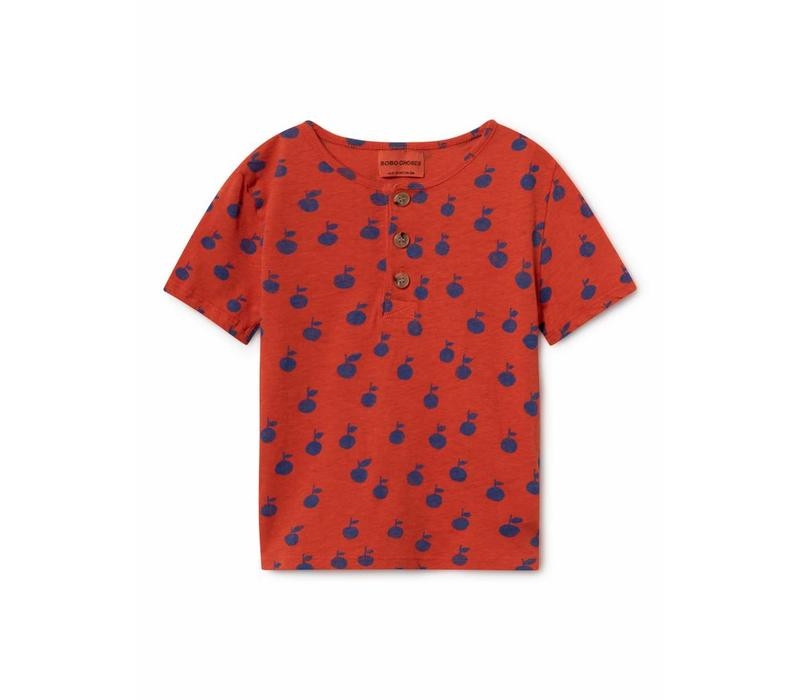 Bobo Choses Apples Buttons T-Shirt