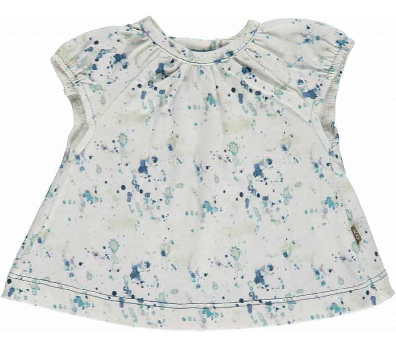 Kidscase Water druppel shirt blauw-86