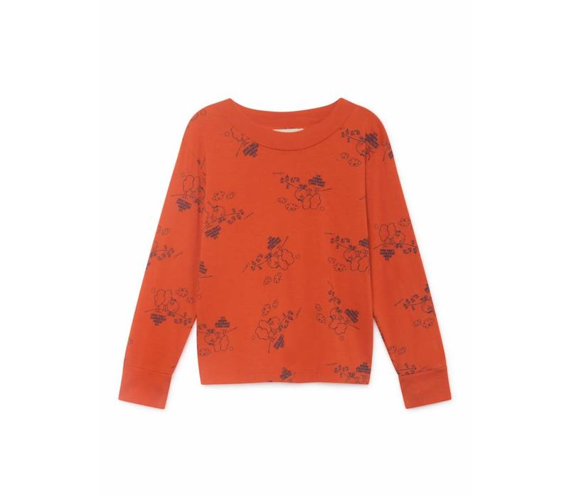 Bobo Choses Tangerine Long Sleeve T- Shirt